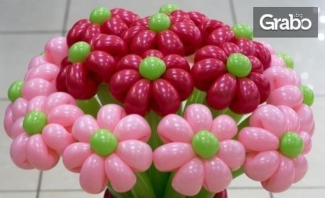 Букет от 11, 25 или 31 цветя от моделиращи балони, с доставка до адрес
