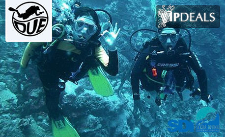 Сертифициран водолазен курс SDI Open Water Scuba Diver, с 20 часа теория и практика