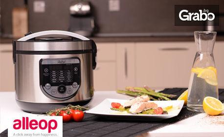 Мултикукър Zephyr с 18 програми за готвене и книжка с рецепти, с безплатна доставка