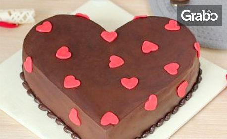 """Торта """"Сърце"""" с 8 парчета"""
