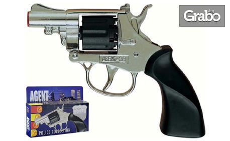 Детски пистолет с пълнител за 8 капси Villa Giocattoli