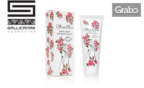 Козметика Seven Roses! Регенериращ крем за ръце с розово масло и спрей натурална розова вода