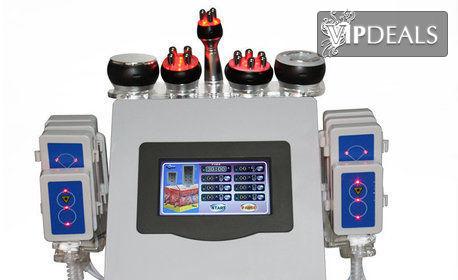 3 или 5 процедури ултразвукова кавитация и RF лифтинг, плюс вакуумен или лимфодренажен масаж на зони по избор