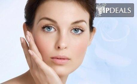 Карбокси CO2 терапия за лице и шия, плюс химичен пилинг, масаж и алго-маска