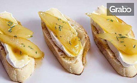 Плато с 40 или 80 солени или сладки грил сандвича от един вид
