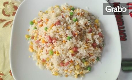 Китайска кухня! 700гр ястие по избор с ориз и яйца