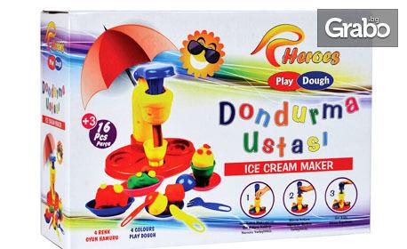 "Комплект за моделиране ""Сладоледено студио"" или ""Хамбургер"" на Play Dough Heroes"
