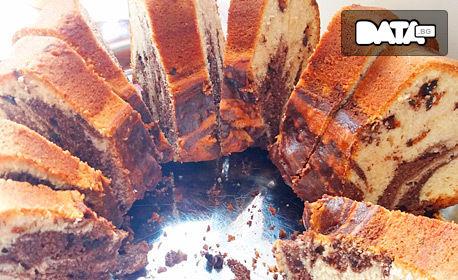 Сладка питка по избор, вита баница със сирене или кекс Мозайка