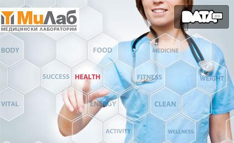 Изследване на основни здравни показатели - на глюкозна обмяна, липиди, бъбреци и черен дроб, плюс ПКК