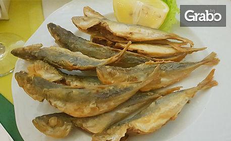Средиземноморска кухня! Комбинирана разядка, тиквички по гръцки, сафрид, брускети или бургер