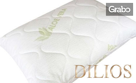 Възглавница с обработени тъкани с Алое Вера