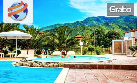 Почивка в Ставрос, Гърция през Юли! 7 нощувки със закуски и вечери в хотел Stavros Beach 3* - на 50м от плажа