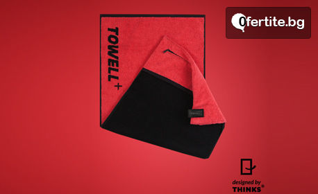 Фитнес кърпа Towell+, в сив или червен цвят