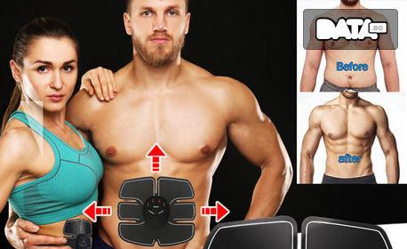 Електростимулатор 6 Pack-EMS - за стягане и оформяне на талията и коремните мускули
