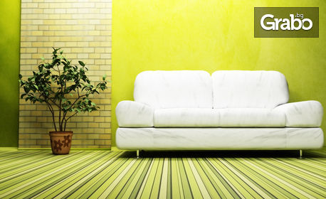 Машинно пране на мека мебел с до 6 седящи места или основно почистване на дом или офис до 100кв.м