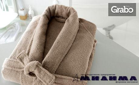 Хавлиен халат за баня от 100% памук, в цвят и размер по избор