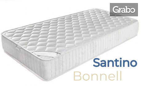 Двулицев матрак Santino Bonnell - в размер по избор, с безплатна доставка и бонус - възглавница