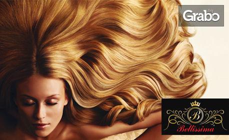 Измиване на коса или боядисване на кичури, балеаж или омбре, плюс оформяне на прическа