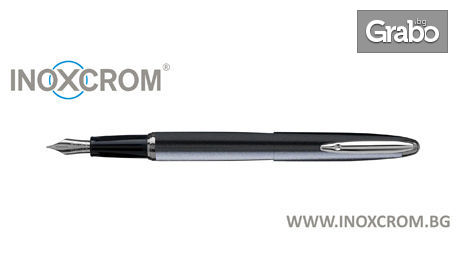 Гравирана писалка Inoxcrom Zeppelin с метален корпус в цвят по избор, плюс 5 патрончета с мастило и подаръчна кутия
