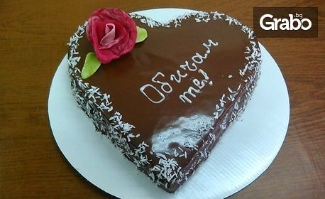 """Торта """"Бяло сърце"""" или """"Шоколадово сърце"""""""