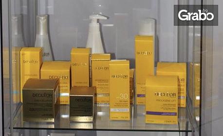 Лифтинг масаж на лице, шия и деколте с продукти на Decleor