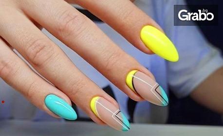 Изграждане на нокти с гел, плюс лакиране с гел лак Kodi Professional