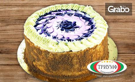Френска селска торта, плюс 1 литър сок Queen's