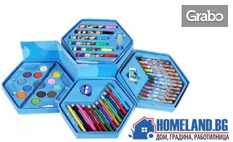 Детски комплект за рисуване с 46 части в кутия