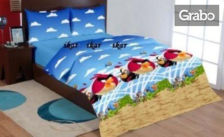 Подарък за 1 юни! Детски спален комплект 100% памук, в десен по избор