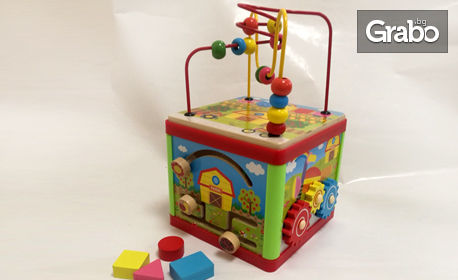 Интерактивен детски куб с 5 игри