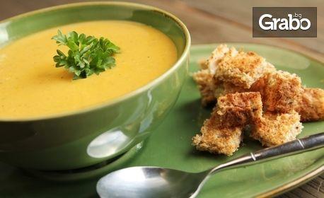 Едноседмичен абонамент за получаване на храна за вкъщи - салата, 2 основни ястия и десерт
