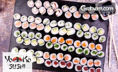 Суши сет с 88 хапки и 150мл соев сос Kikkoman