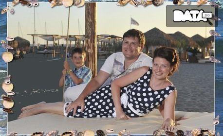 Индивидуална фотосесия край морския бряг на Слънчев бряг - с 10 обработени кадъра и 1 принтирана снимка