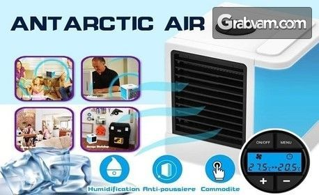Персонален охладител, овлажнител и пречиствател на въздух с нощна лампа в един комбиниран уред
