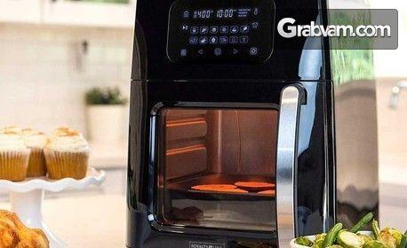 Мултуфункционален фритюрник за готвене с горещ въздух Royalty Line 12 в 1 - с безплатна доставка