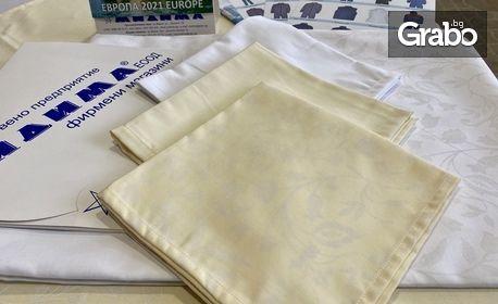 Сатенена покривка за маса с щампа - цвят по избор