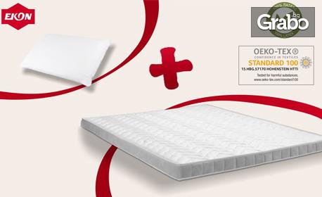 За уют в спалнята! Комплект топ матрак 3D и възглавница Релакс и безплатна доставка