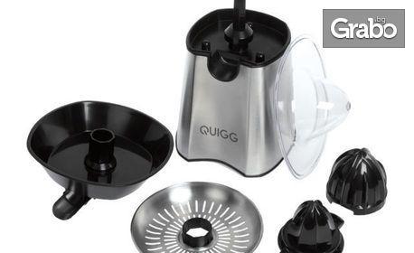 Цитрус преса Quigg - с 2 посоки на въртене и корпус от неръждаема стомана