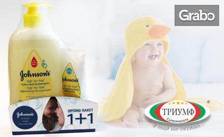 Бебешки шампоан за коса и тяло и силно хидратиращ крем Johnson's