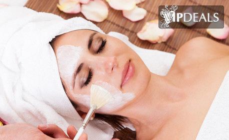 Дълбоко почистване на лице с хиалуронова ампула и успокояващ маска с пантенол и цинк