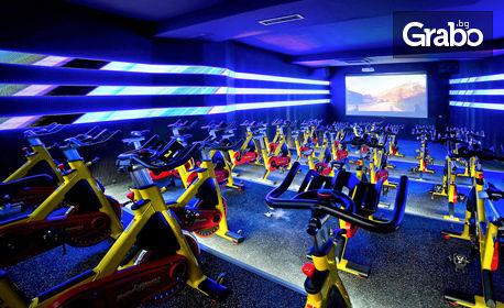 Неограничен брой посещения на фитнес, групови занимания, басейн и SPA, плюс тренировки с инструктор - за 1 или 3 месеца