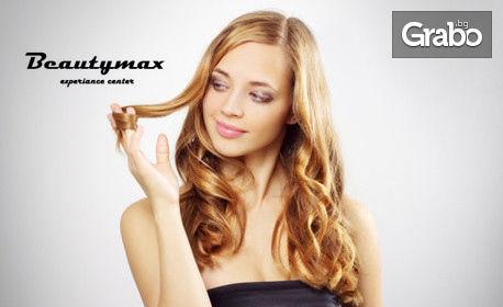 Боядисване на коса с белгийска боя Code Zero, плюс масажно измиване, подстригване на връхчета и изправяне със сешоар