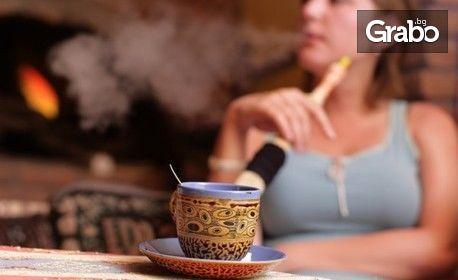 Фреш диня и кафе, мляко с какао и бисквитена торта, или наргиле и чай