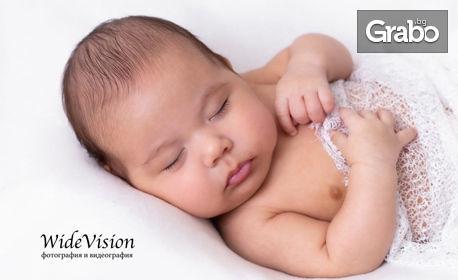 Професионална студийна фотосесия за бременна дама или новородено бебе с 5 или 10 обработени кадъра