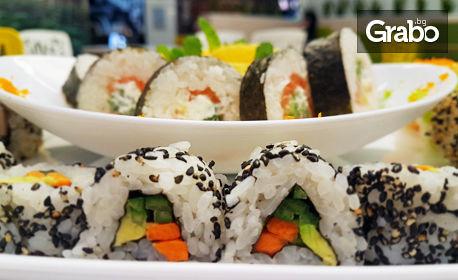 Хапни на място или вземи за вкъщи! Суши сет с 22 хапки