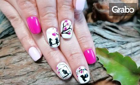 Маникюр с гел лак, гел върху естествени нокти или ноктопластика