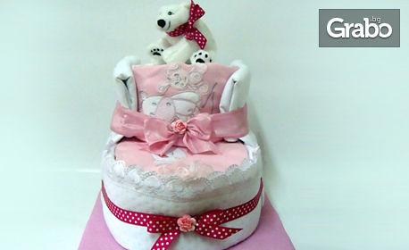 Нестандартни и ефектни торти за деца и майки - от памперси или картонена