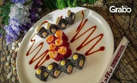 Суши сет комбо Every day с 14 хапки или суши сет Самурай с 26 хапки и салата Уакаме