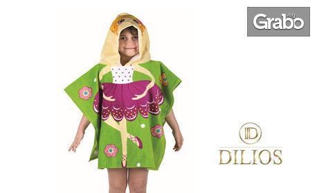 Детско хавлиено пончо за плаж - модел по избор