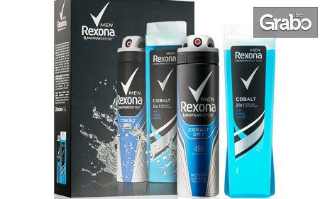 Комплект Rexona! Део спрей, душ гел и крем стик - за жени и за мъже